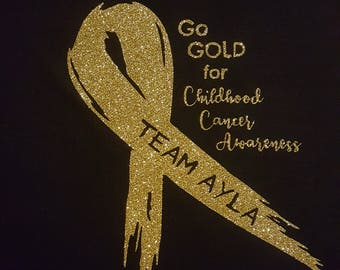 Personalized Go Gold for Childhood Cancer Awareness
