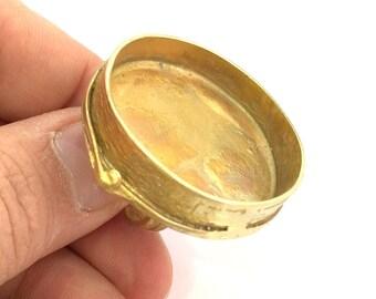 Raw Brass Adjustable Ring Blank  (35mm Blank)   G3411