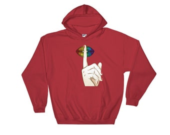 Quiet Please Hooded Sweatshirt // Stop Talking Please Hoodie // Silent Please Hoodie // No Talking Sweatshirt // Funny Please Gift Hoodie