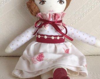 Handmade doll, decorative doll, heirloom doll, rag doll, collectable doll, cloth doll