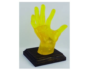 YELLOW, POP-HANDS, Colorful device holder for phones, tablets, business cards, etc. Customize the color of the base.
