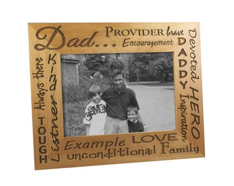 Personalized Wooden Father's Frame