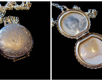 Vintage Coro and Vermeil Heart 4 Picture Family Locket