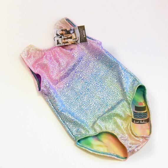 Rainbow Unicorn / Mermaid Metallic Leotard. Metallic Pebbles Mermaid Dance Leotard. Gymnastics Leotard