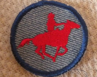 Pony Express, Horse and Rider  Iron-on Patch / Merit Badge