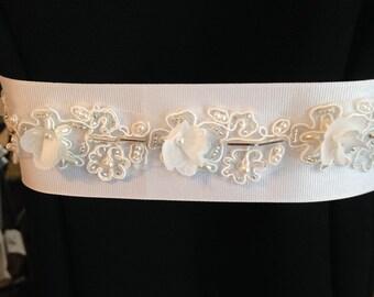Hand Beaded Wedding Dress Belt/sash