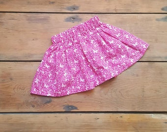 Childs Pink and White Butterfly Skirt