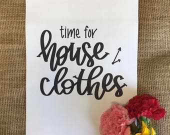 House Clothes Printable