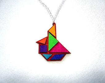 Chain, tangram, sailboat (380)