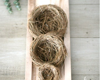 Natural Grass Bird Nests 3 sizes - Wedding Baby Shower Decor/Easter/Spring/Nature Scene
