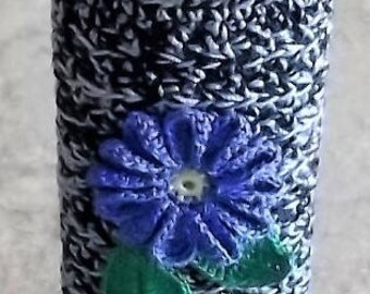 One Of Its Kind  Get to it first  Fast Shipping Applies:) Antique Blue/Black  Crochet Item  Standard  Size  Lighter Case