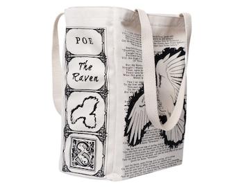 The Raven - Edgar Allan Poe, Tote Bag, Literary, Book Lover, Books, Literature, Teacher Gift, Gift for Reader