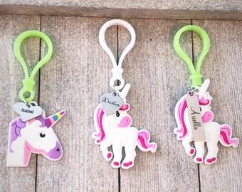 Personalized Unicorn Zipper Pulls / Keychains