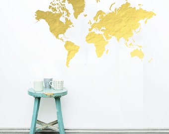 World map stencil etsy world map wall stencil gumiabroncs Images