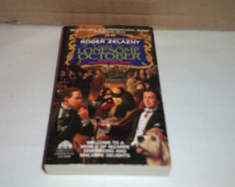 A Night in the Lonesome October by Roger Zelazny, Vintage 1994 horror/fantasy paperback!!