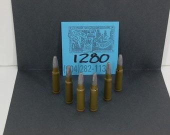 1960's Johnny Eagle Lieutenant Rifle Bullets-set of 6