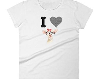 Valentine T-Shirt I Love Ewe You. Women's short sleeve t-shirt