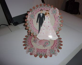 Wedding, Valentine, 3d card, handmade, category wedding - ceremony, celebration, congratulations, union, happiness, man, woman