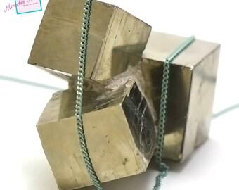 "1 m 02 ""1.5 mm wavy"", Green/Gold Mesh chain"