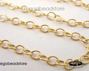 14K Gold Filled Cable Chain Loose Chain 2.5mm x 2mm CH4