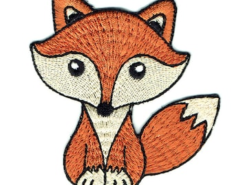 Brown Fox Iron On Patch Embroidered Applique