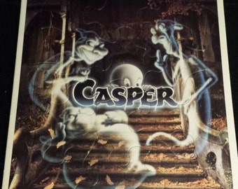 """Vintage 1995 Casper The Friendly Ghost 8"""" x 11"""" Frame-Tray Puzzle, EXCELLENT"""