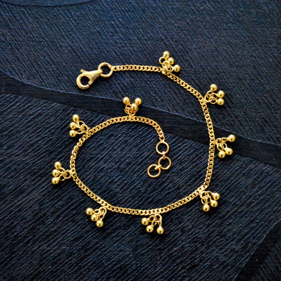 bracelets goods anklet deals gold groupon bracelet plated ca gg ankle