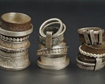selection of spinner rings ooak