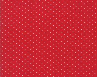 Sugar Plum Christmas Dot Candy Red fabric by Bunny Hill Designs for Moda Fabric #2918-16