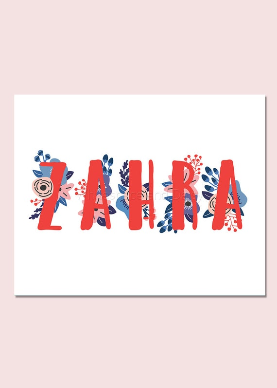 Zahra personalized name sign personalized baby gift nursery zahra personalized name sign personalized baby gift nursery wall art baby shower decor personalized name baby gift custom name art negle Choice Image
