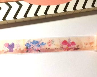 Cute Mouse washi tape, Mouse washi, animal washi, washi tape, animal washi, cute washi, washi, planner, journal, scrapbooking, washi tapes