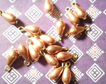 18 Copper Teardrop Beads