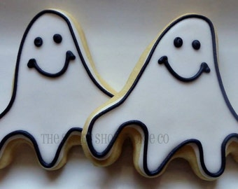 Happy Ghost Cookies 2 dozen