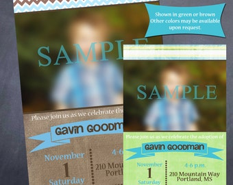 Printable Adoption Celebration/Shower Invitation - Your choice of colors!
