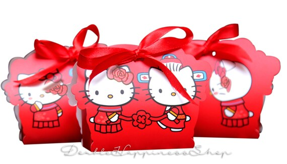 Hello Kitty Wedding Gift: Double Happiness Hello Kitty Dear Daniel Red Wedding Favor