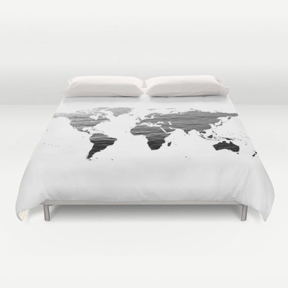 Ocean texture map duvet cover decorative bedding world map zoom gumiabroncs Images