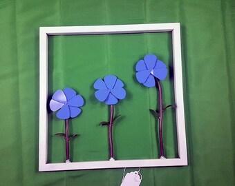 Framed Flower Wall Decor