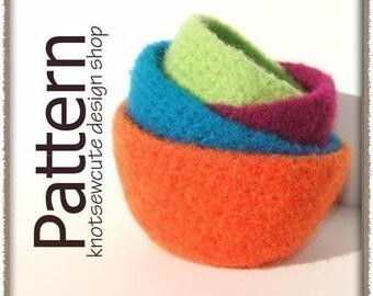 Felted Nesting Bowls - Crochet Pattern