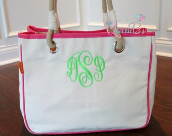 Monogram Rope Tote - Great Gift!!
