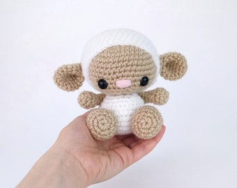PATTERN: Lily the Lamb - Crochet lamb pattern - amigurumi sheep pattern - lamb pattern - crochet sheep pattern - PDF crochet pattern