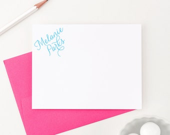 Personalized Stationery // Personalized Stationary // Thank you cards // Personalized Note Cards, Modern Pink Paper, PS006