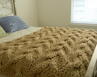 "The ""Lost in You"" Chunky Knit Blanket"