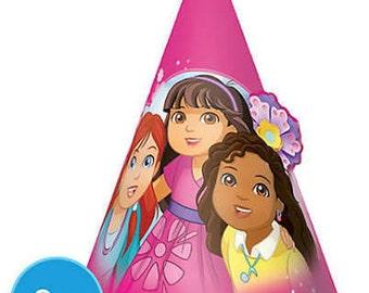 Girls Cone Hats 8ct