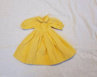 Doll dress, vintage,  yellow