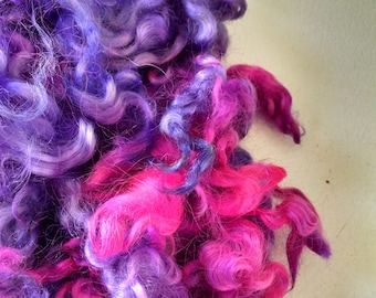 Teeswater Locks - Curls - Hand Dyed Locks - Doll Hair - Spinning - Lockspinning - Felting - Wool Locks - Troll Hair - Blythe - Local Wool