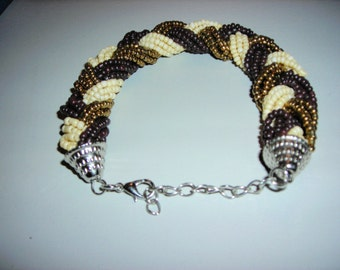 "8""Braided Bead Bracelet with chain extender."