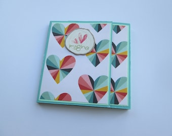 Sticky Note Holder << rainbow heart, post in note, sticky note, post-it