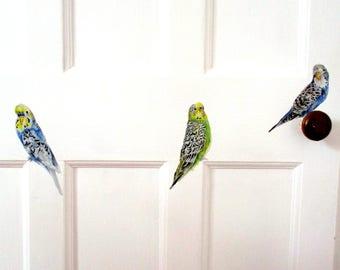 Budgie decals, bird wall stickers, neutral nursery decor, budgie gift, budgie wall stickers, budgie wall decals, car vinyl, budgerigar decor