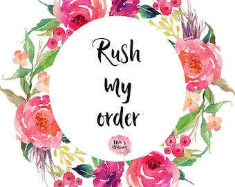 Rush order processing service