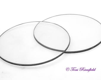 Round Glass Caps, use in polymer clay, tools for polymer clay